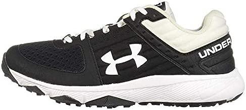 Under Armour Men's Yard Trainer Baseball Shoe, Black (001)/White, 4.5