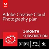 Adobe Creative Cloud Photography plan 1 TB (Photoshop  + Lightroom)|1-month Subscription with auto-renewal, PC/Mac