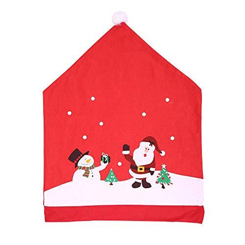 Javntouy 2 fundas para silla de comedor de Navidad, diseño de Papá Noel