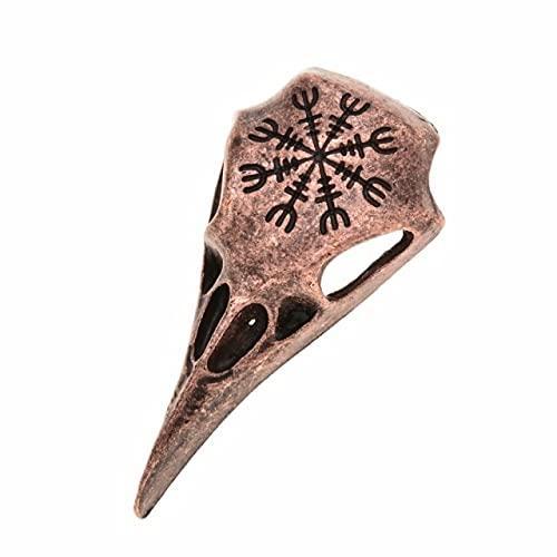 Joyería de moda Norse Viking Yelmo de Awe Cuervo Cráneo Broche de Solapa Hombres Broche Broche Calavera Vintage Broches Para Mujer