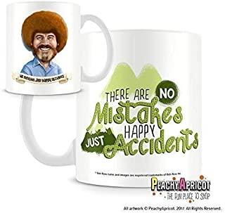 Bob Ross Mug - Happy Accidents Quote - Officially Licensed