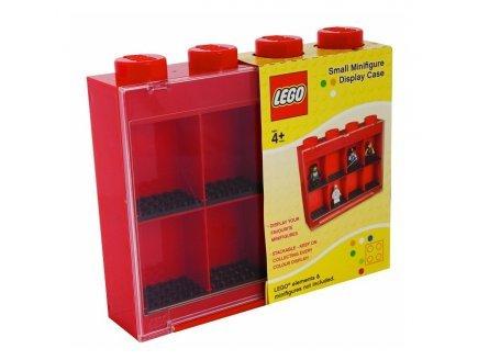 Lego - 5107c - ameublement et décoration - vitrine Figurines 8 Cases - Rouge