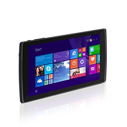 Trekstor SurfTab wintron 8.0 (8 Zoll (20,3 cm) Windows-Tablet mit Intel Inside, 1,83 GHz, 16 GB Speicher, 1 GB RAM, Windows 8.1 mit Bing, Office 365 Personal 1-Jahres-Abo, HD IPS-Display, Micro-USB, Bluetooth 4.0, WLAN, Miracast, Speicherkartenleser) schwarz/weiß