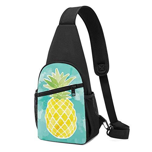 NEPower Sling Bag Best Pineapples Outdoor Shoulder Backpack Crossbody Bag Bike Women Men Teens Travel Daypack