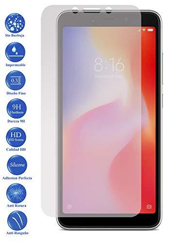 Todotumovil Protector de Pantalla Xiaomi Redmi 6 de Cristal Templado Vidrio 9H para movil