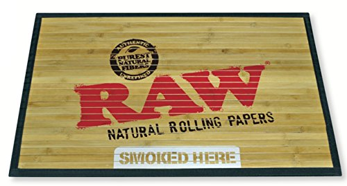 """Price comparison product image RAW Natural Rolling Papers - Bamboo Door Mat 30"""" x 18"""""""