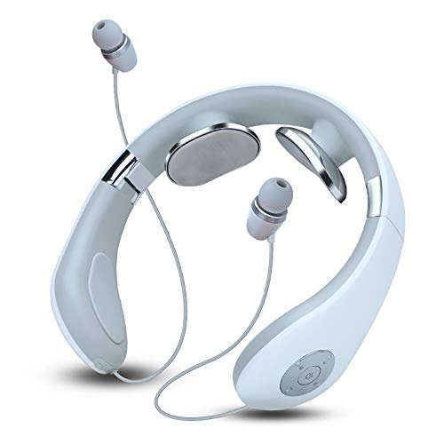 LRHD Auricular de banda de cuello inalámbrico Bluetooth 5.0 Auriculares para audífonos portátil Cómodo Ergonómico de cuello ergonómico Diseño inteligente Masaje de cuello inteligente para correr Cicli