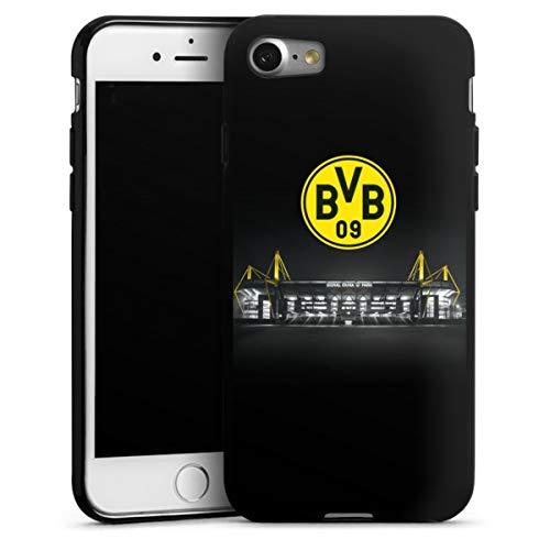 DeinDesign Silikon Hülle kompatibel mit Apple iPhone 8 Case schwarz Handyhülle BVB Stadion Borussia Dortmund