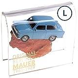Trabant auf ORIGINAL Berliner Mauer-Stein | authentisches Stück mit Echtheitszertifikat | Trabi DDR | Handarbeit