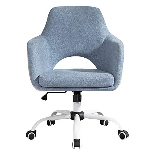 LIYFF-Stools Upholstered Home Office Desk Chair with Washableseat Cushions, Chrome-Finished, 360-Degree Swivel