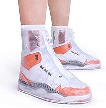 ARUNNERS Rain Shoe Covers for Women Waterproof (White, XL)