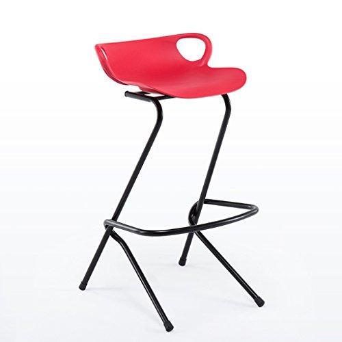 Tabouret haut moderne en fer forgé, chaise de barre créative, rouge 84cm haut (Color : Red)