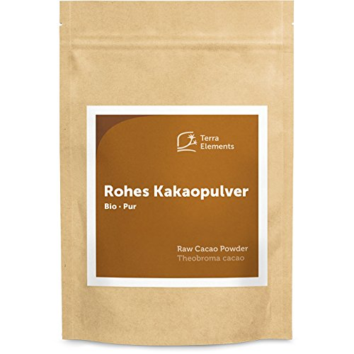 Terra Elements Bio Criollo Kakaopulver roh, 250 g I Unbehandelt I 100% rein I Vegan I Rohkost