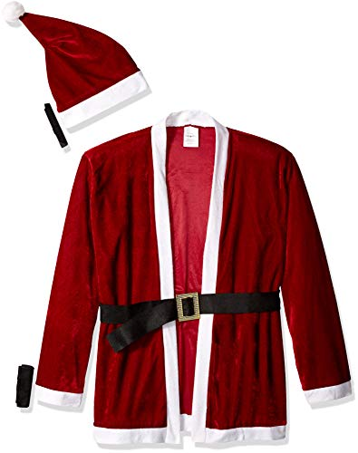 Sunnywood Men's Party Santa Costume, Red/White, One Size
