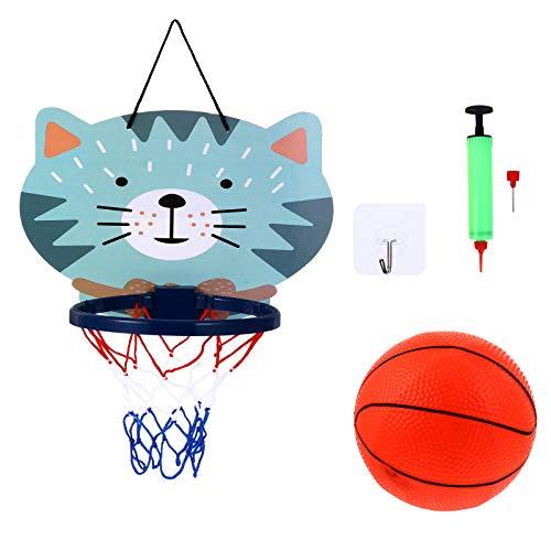 Abaodam 1 juego de aro de baloncesto colgante con mini baloncesto para el hogar, oficina, dormitorio, suministros