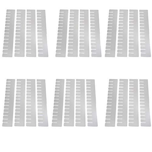 SIDCO Schubladenteiler 24er Set Fachteiler Schubladeneinteiler zuschneidbar Kunststoff