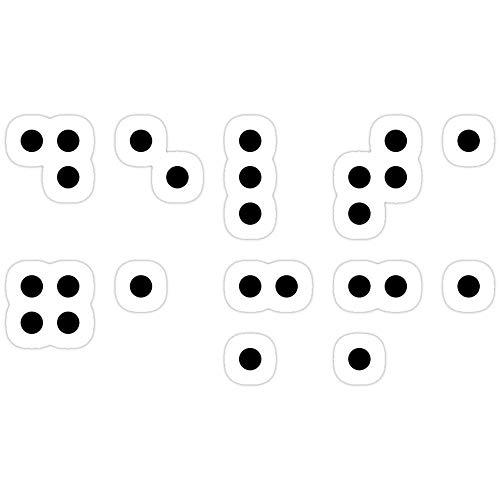Hik kal Shop DG Braille Lettering Stickers (3 Pcs/Pack)