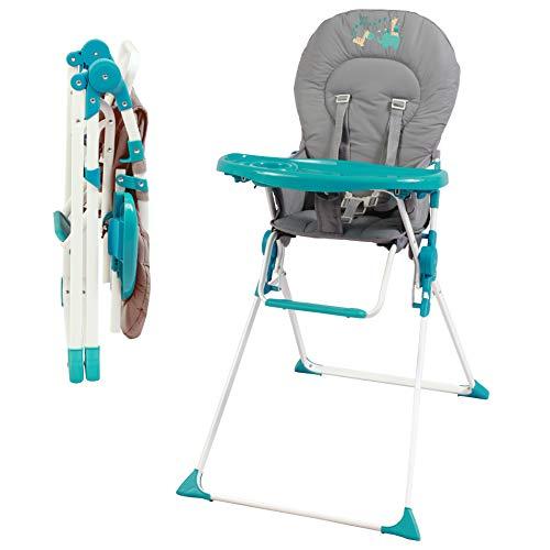 Bambisol - Chaise Haute Fixe Bébé - Ultra Compacte et Légère, Tablette Amovible Réglable (Acrobates)
