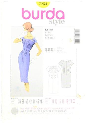 Burda patroon 7254 jurk, Vestido, robe maat 36-48