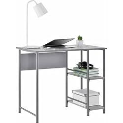 Mainstays Basic Metal Student Desk (Light School Gray)