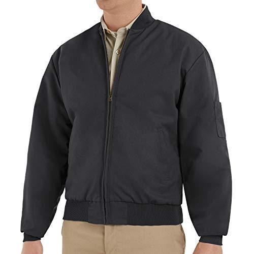 Red Kap Herren Men's Solid Team Jacket Jacke, schwarz, Lange Large