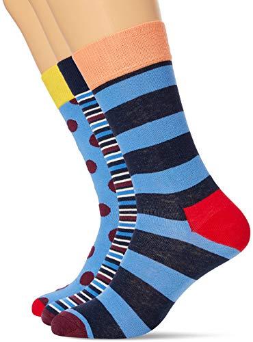 Happy Socks HS BY 3 Pair Gift Box Calzini, Multi, 4-11 (41-46) Unisex-Adulto
