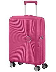 American Tourister Soundbox - Spinner S Expandible Equipaje de Mano, 55 cm, 35.5/41 L, Rosa (Magenta)
