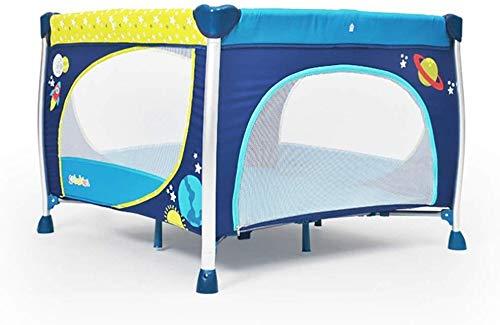 AJINS Jeu Parc bébé Pliant bébé Square Travel Lit, très Haute 76cm Toddler Portable Play Yard, Jeu pour Les bébés intérieurs Blue