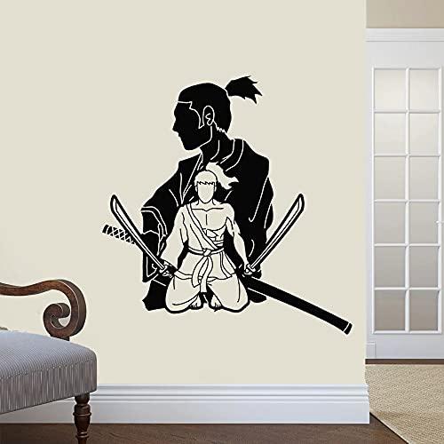 Kendo Samurai Assassino Spadaccino Guerriero Giapponese Bushido Ninja Autoadesivo Della Parete Del Vinile Della Decalcomania Dell automobile Ragazzo Fan Camera Da Letto Club Studio Complementi Ar