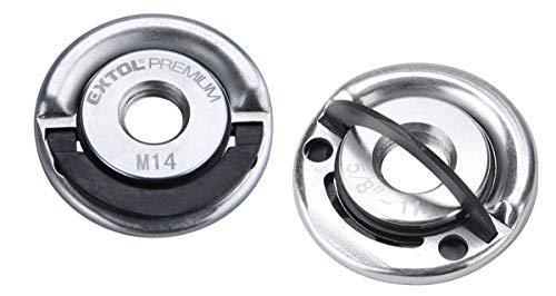 Extol Schnellspannmutter M14 für Winkelschleifer (2er Set) bis 1000W für alle gängigen Fabrikate, Extol Premium 8898050