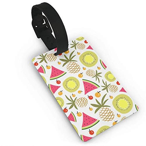 Watermelon Kiwi Luggage Tag Travel Accessories Business Card Holder