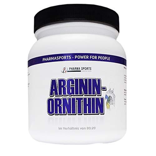 L-Arginin + L-Ornithin 80:20-500 g Reines Pulver (wie 1000 mal 500mg Kapseln Menge)