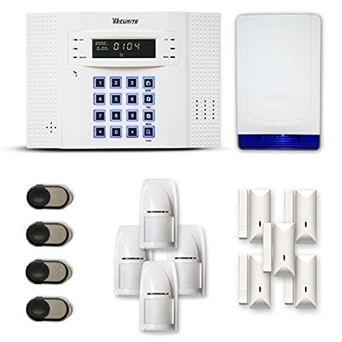 Alarme Maison sans Fil DNB 4 à 5 pièces Mouvement + Intrusion + sirène extérieure Autonome - Compatible Box Internet et GSM