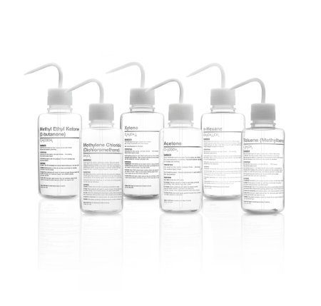 Nalge Nunc 2429-0505 Right To Understand FEP Sicherheits-Waschflasche, Xylol, 500 ml Fassungsvermögen, 4 Stück
