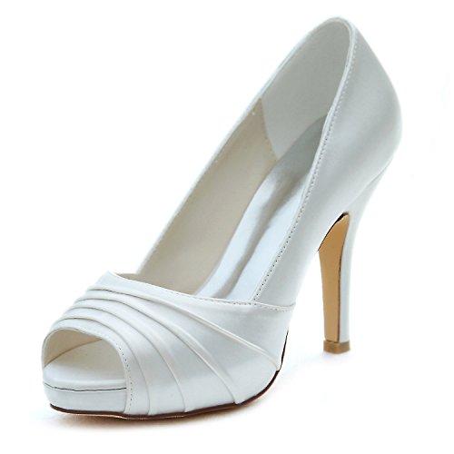 Emily Bridal Zapatos de Novia de Marfil Zapatos de tacón Alto de...