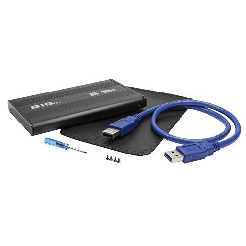 BIGtec Aluminium USB 3.0 High Speed externes Festplattengehäuse 6,35cm (2,5