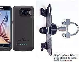 SlipGrip U-Bolt Bike Holder for Samsung Galaxy S6 Using ZeroLemon 3500mAh Slim Extended Battery Case