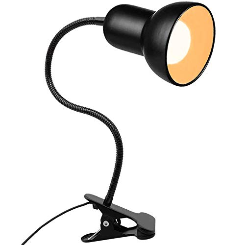 Desk lamp 360°Rotation Clip on Lamp Clip On Reading Light Gooseneck LampOn Cable Portable Clip on Light/Reading Book Light/Clamp Light EyeCaring Study clamp for Bedroom Office Home Lighting