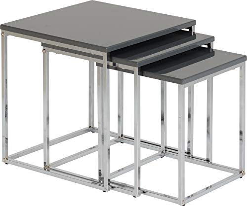 Seconique Charisma Nest of Tables, Grey, One Size
