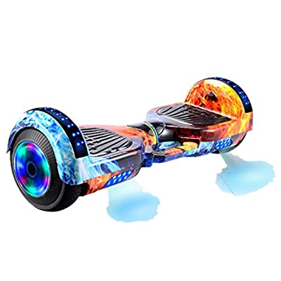 UNKN Dazzling Hoverboard Self Balancing Scooter with Bluetooth Speaker and LED Lights, 6.5 inch Electric Balancing Scooter for Adult Kids Gift, DHL Transport