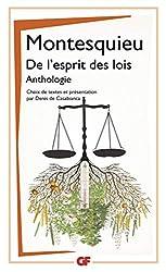 De l'esprit des lois - Anthologie de Montesquieu