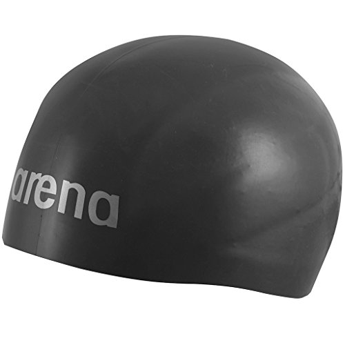 Arena 3D Ultra Swimming Cap Unisex Adult, Black, Large