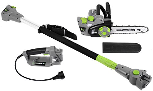 corded electric chainsaw and pole saw