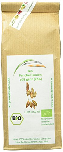 Aroma natural Fenchel Samen süß ganz (kbA) 150 g, 1er Pack (1 x 150 g)