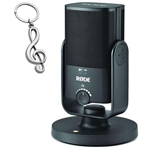 Rode NT-USB MINI USB-Studio-Kondensatormikrofon + keepdrum Violinschlüssel-Anhänger