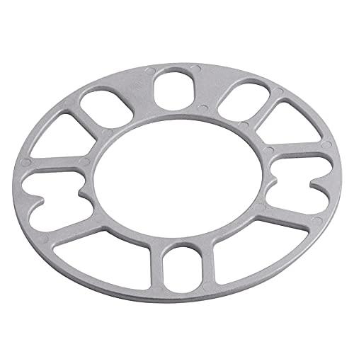 RuYunLong 4 Uds Universal 3mm 5mm 8mm 10mm Aluminio Coche Rueda Espaciador cuñas Placa Ajuste 4x100 4x114,3 5x100 5x108 5x114,3 5x120 (Color : 10MM)