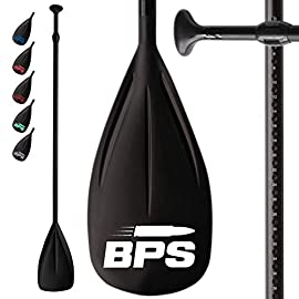 BPS Alloy SUP Paddle - 2 Piece Adjustable SUP Stand Up Paddleboard Paddles, Aluminum Shaft Lightweight Floating Paddle… 23 THE COMPANY - Helping everyone to 'get out and do' is the reason Barrel Point Surf exists. Created by a Kiwi surfer and caring Dad who loves helping others get out onto and into the water, we're a Mom & Pop business that began with us building surfboards in our garage. Now we are all about helping make water sports accessible, wherever you are in the world. Say yes to barrels, not barriers. THE PRODUCT - The high-performing BPS Alloy Composite Paddle is constructed with a strong aluminum shaft, nylon blade, instant and reliable adjustment mechanism, and ergonomically designed handle. You can also have the option to bundle it with a BLADE COVER ($14.99 value) to protect the paddle's blade from scratches and sun damage. There are also New LOGO COLORS available for you to choose from! MORE ABOUT THE PRODUCT - These products are designed and tested by experienced paddlers in New Zealand. Our BPS Paddles are guaranteed to float when the parts are together. The paddle height adjustment range is 1800 - 2130 mm (70.86 - 83.85 in). It is extremely light at only 2.1 lbs and super user-friendly. It can be separated into 2 parts for more convenient storage or transport.