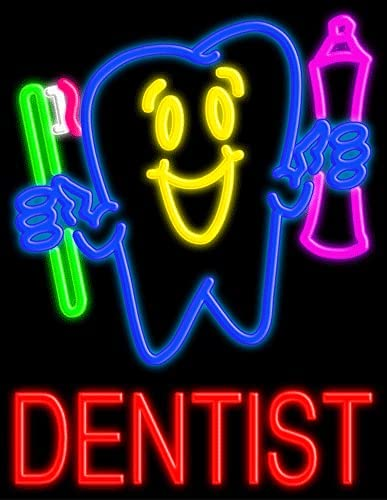 Dentist half Glass neon Sign USA #10426 Super Special SALE held in Made