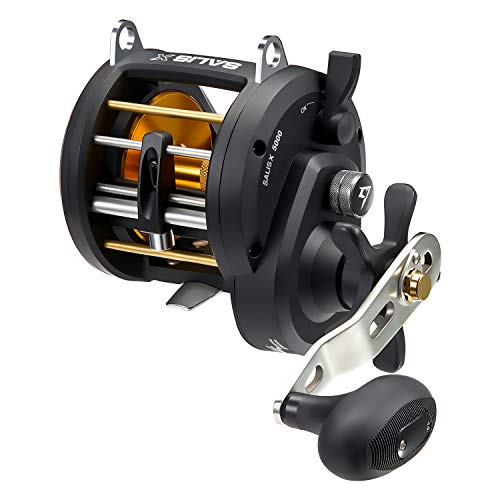 Piscifun Salis X 5000 Left Handed Trolling Reel 6.2:1 High Speed Inshore Saltwater Round Baitcasting Fishing Reels Level Wind Conventional Reel