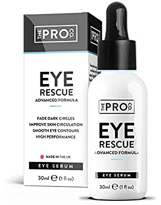 Anti Wrinkle Eye Rescue Serum - Vegan Friendly - Sustainable Plastic Free Packaging - Added Cocoa Butter, Seaweed Extract & Grape Seed Oil - Anti Dark Circles - Made in The UK by The Pro Co. by The Pro Co